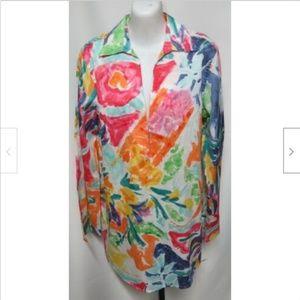 NWT Lauren Ralph Lauren Watercolor Tunic Top M